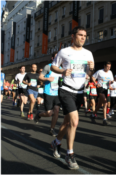 Julian Monfort au Marathon de Paris